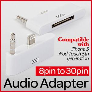8pin to 30pin Audio Adapter for iPhone 5 iPod Touch 5