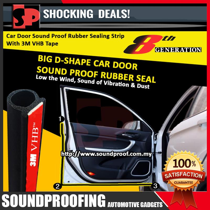 New 8th Generation Big D-Shape Sound Proof Rubber Seal (Premium)