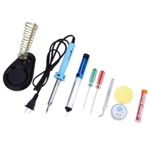 9-IN-1 110V 60W ELECTRIC WELDING SOLDER IRON STARTER TOOL KIT (COLORMI