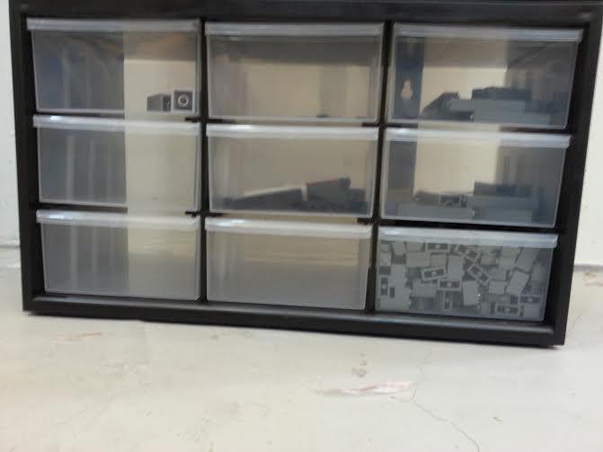 9 Drawers Cabinet / Organizer For LEGO Parts / Bricks Storage Box