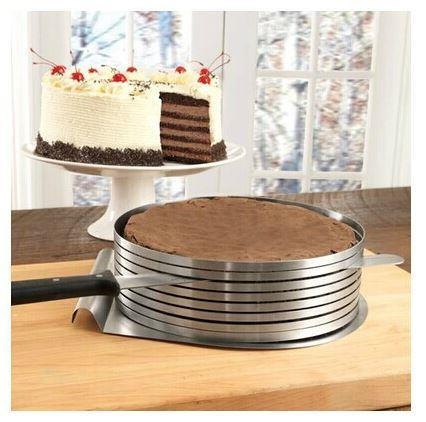 9' Inch Adjustable Stainless Steel Cake Slicer Leveler Mousse Ring