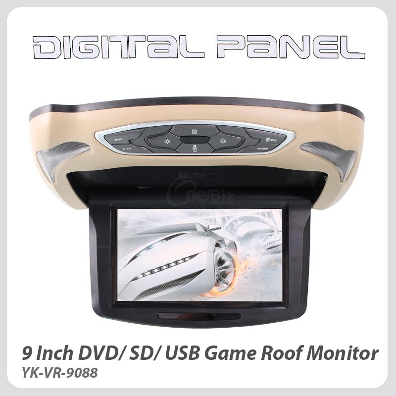 9 Inch DVD/ SD/ USB/ Game Roof Monitor
