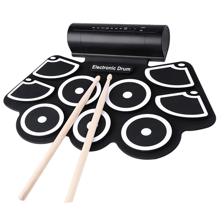 9-Pad Portable Electronic Multifunctional Flexible Digital Drum