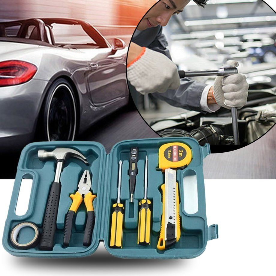 9 Pcs Automotive Emergency Repairing Break-down Portable Tool Kit