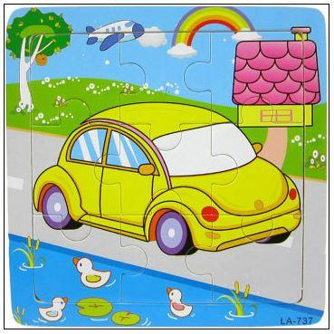 9 Pcs Educational Early Childhood Interesting Puzzle (Car)