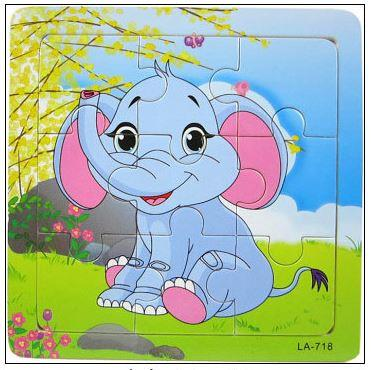 9 Pcs Educational Early Childhood Interesting Puzzle (Elephant)