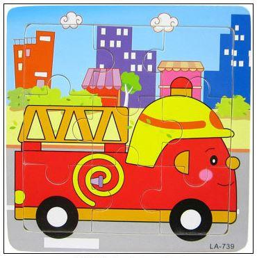 9 Pcs Educational Early Childhood Interesting Puzzle (Fire-engine)