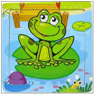 9 Pcs Educational Early Childhood Interesting Puzzle (Frog)