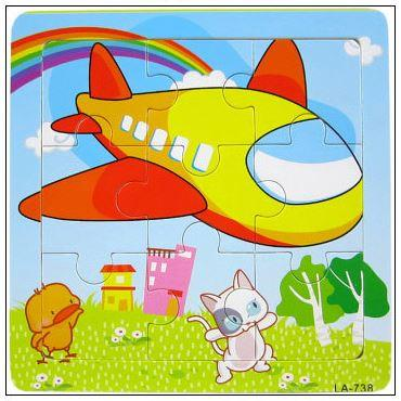9 Pcs Educational Early Childhood Interesting Puzzle (Plane)