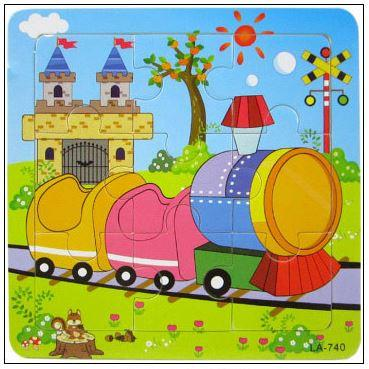 9 Pcs Educational Early Childhood Interesting Puzzle (Train)