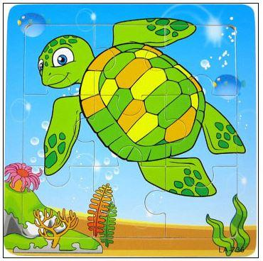 9 Pcs Educational Early Childhood Interesting Puzzle (Turtle)
