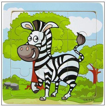 9 Pcs Educational Early Childhood Interesting Puzzle (Zebra)