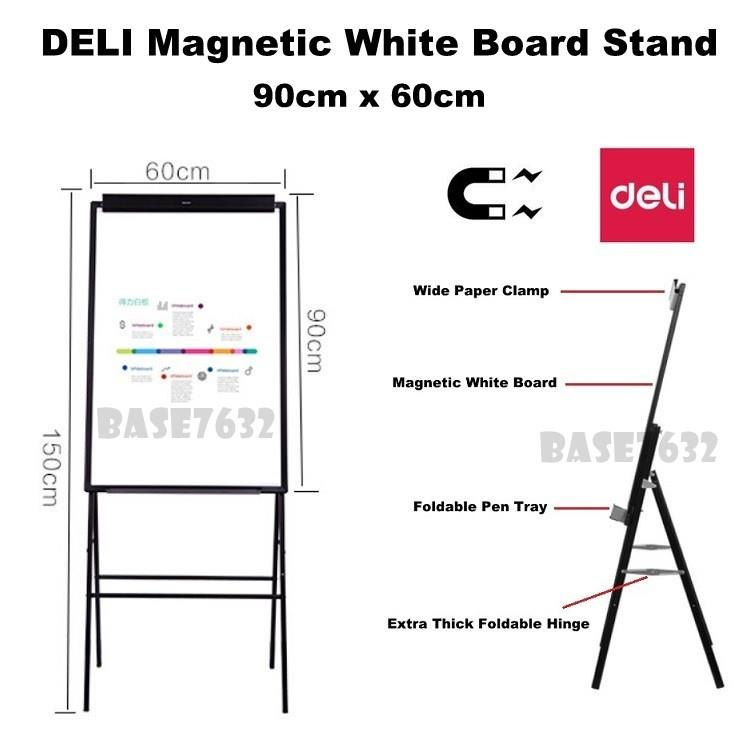 90*60cm  DELI 7890 Magnetic Easel White Board Whiteboard Stand 2153.1