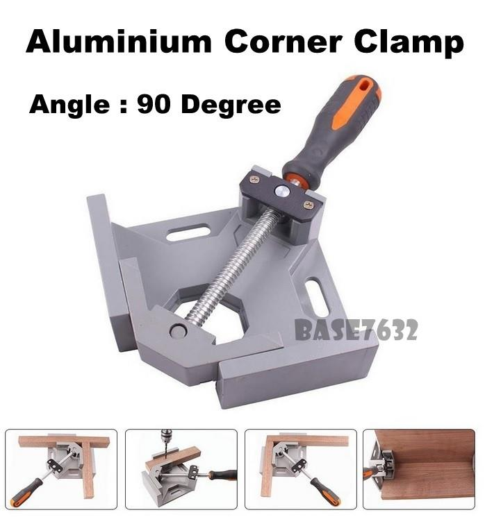 90 Degree Aluminium Right Angle Corner Clamp Swing Jaw Tool