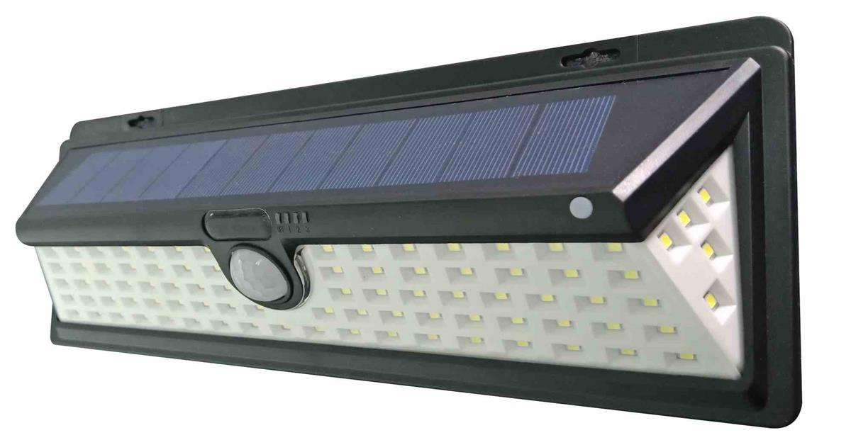 90 LED Outdoor Solar Motion Sensor Wall Light Wide Angle Super Bright