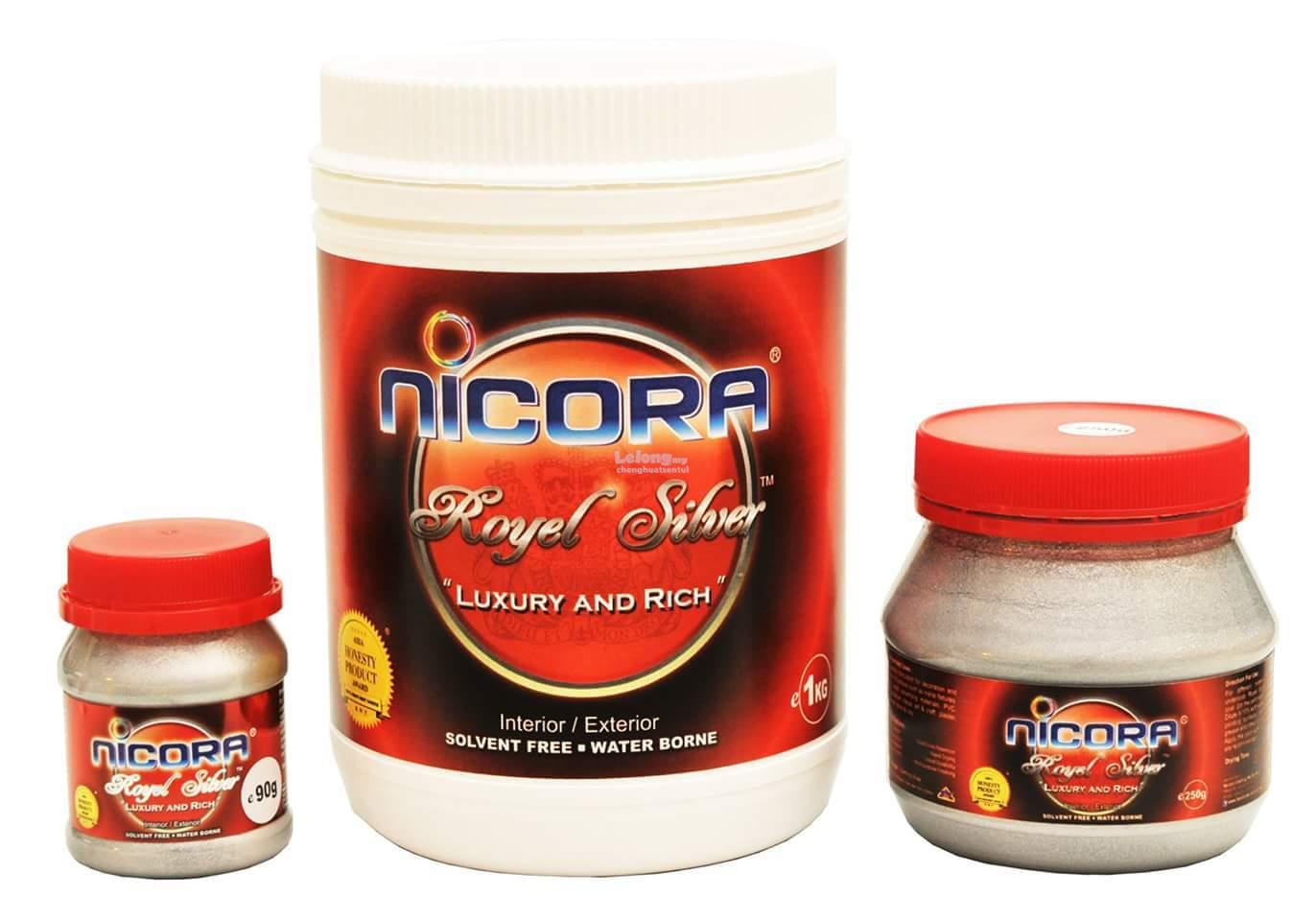 90G NICORA ROYAL SILVER PAINT (WATER BORNE)