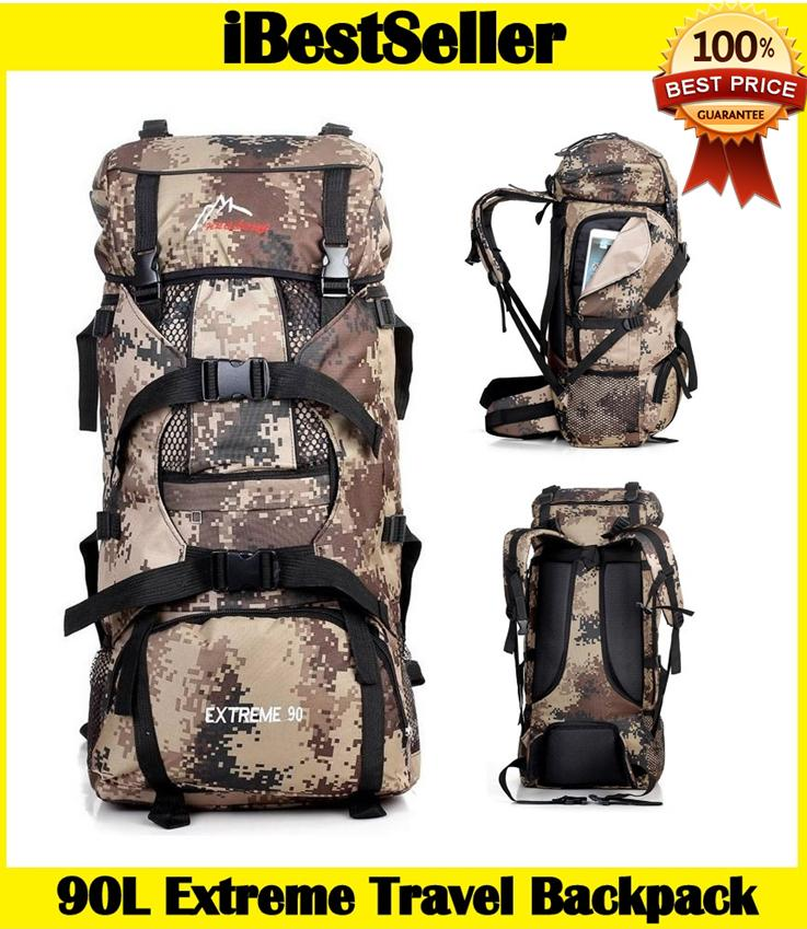 9bba5aafe8fd 90L Outdoor Extreme Camping Backpack wt Internal Frame Travel Backpack. ‹ ›