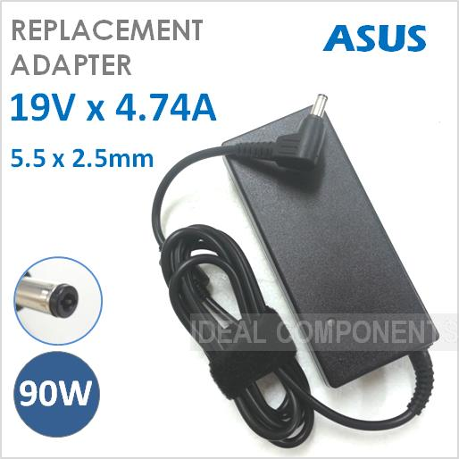 90W AC Power Adapter Charger ASUS K55V K55VD K55VD-DB51 K55VM K55A