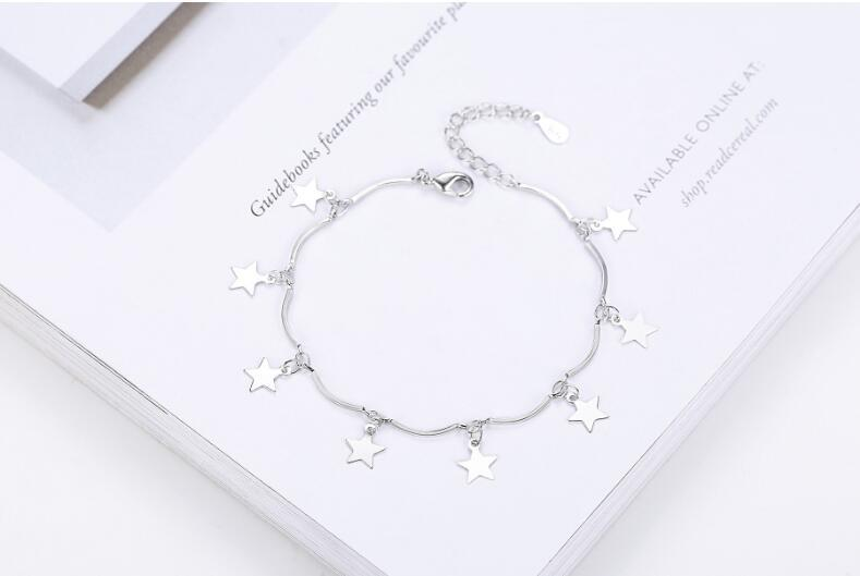 925 Silver 3 Type Korea Fashion Design Bracelet