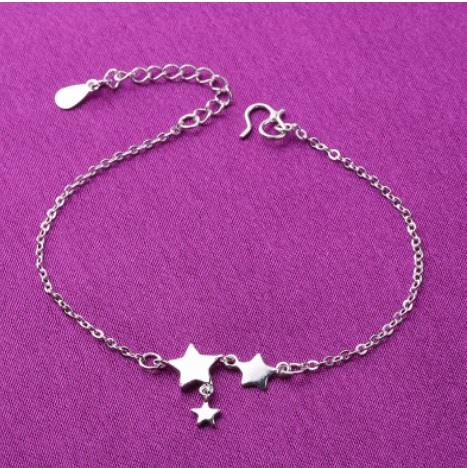925 Silver Korea Design Star Fashion Bracelet S1