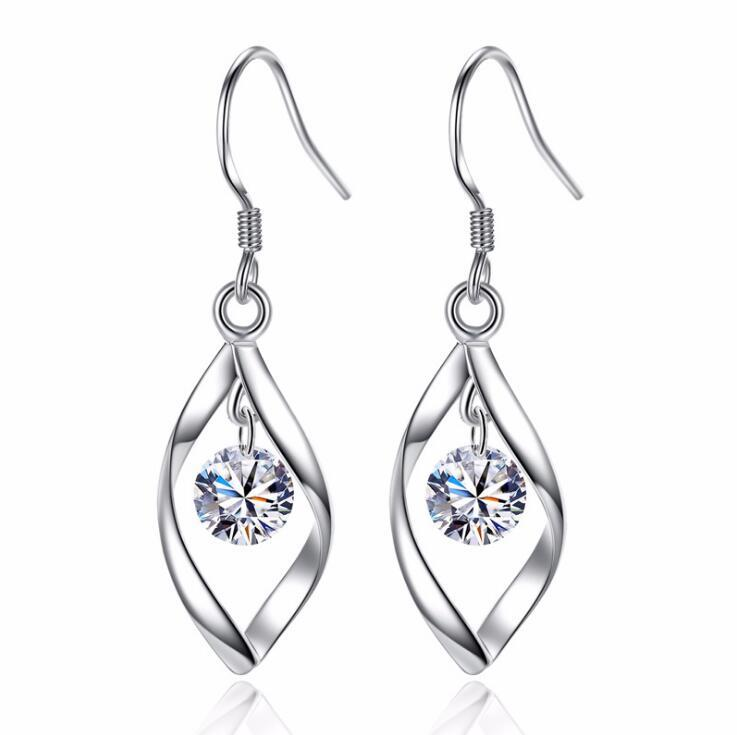 925 Silver Korea Fashion Hook Earring