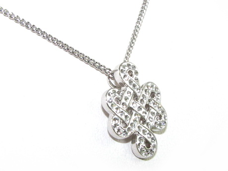 925 silver mystic knot pendant with end 12232018 433 pm 925 silver mystic knot pendant with swarovski crystals mozeypictures Image collections