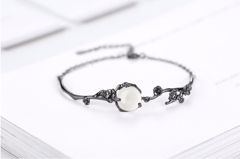 925 Silver Retro Color Plated Stylish Bracelet