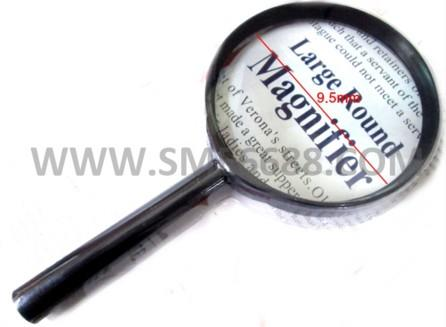 *95mmDiameter^Lens Handle Straight Shank Reading Magnifier Magnifying