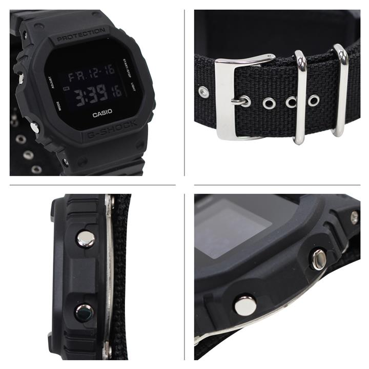 ★100% Genuine★ G-Shock DW-5600BBN-1 Matte Black Cloth Band