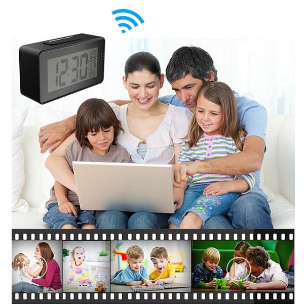 ★ 1080P Night Vision Wifi Clock Camera (WCH-28A)