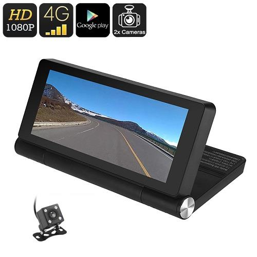 ★ 7 Inch Android OS HD, WiFi, 4G, GPS Dual Car Camera (WCR-28B)