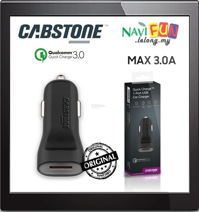 ★ CABSTONE Quick Charge™ 3.0 1-Port USB Car Charger 3A Max
