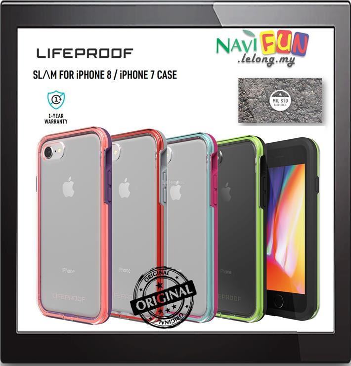 cheap for discount a39ca f3070 ★Lifeproof SLAM 2M MIL drop Protection case iPhone 8 / iPhone 7