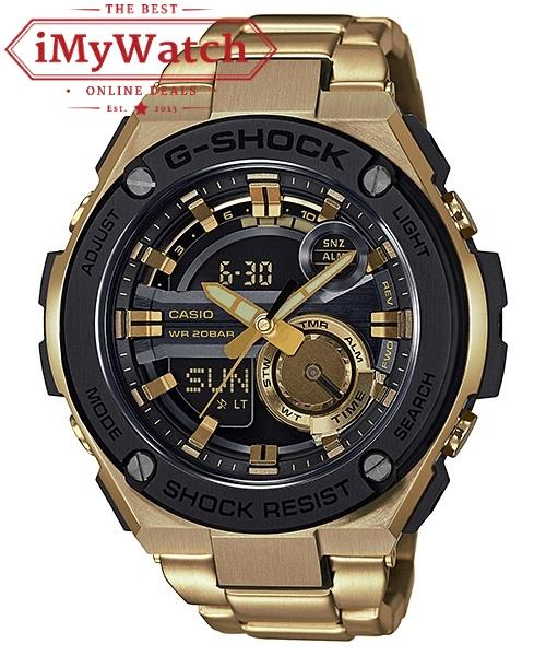 ★Merdeka Sales★ G-Shock GST-210GD-1A G-Steel Series Gold
