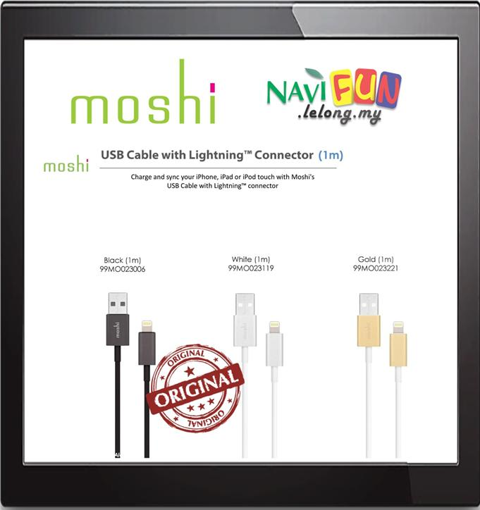 ★ Moshi USB Cable with Lightning Connector (1m)