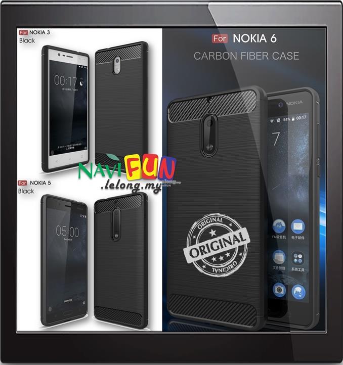 9733 Nokia 3 5 6 Rugged Design Slim Armor Tpu Carbon