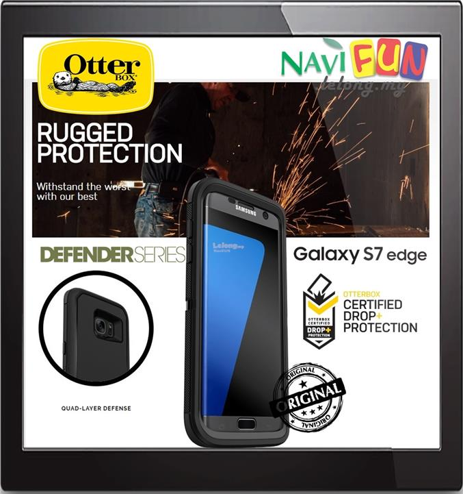 low priced 8d3f1 be73f ★ OtterBox Defender Series Case for SAMSUNG GALAXY S7 Edge