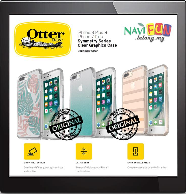 in stock 1f115 558a8 ★ OtterBox iPHONE 8 / 7 Plus SYMMETRY CLEAR GRAPHICS CASE