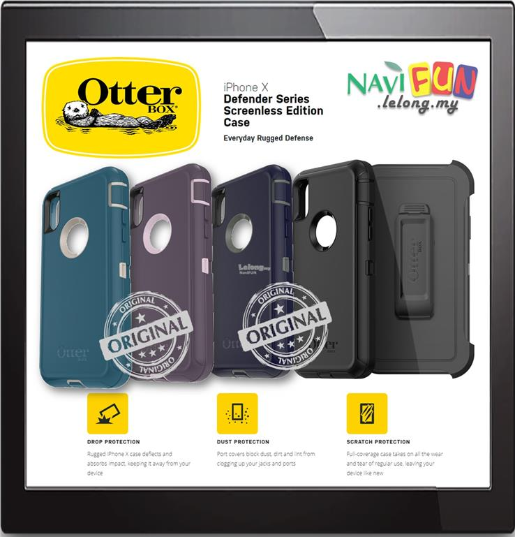 new styles a48dd 1fbbc ★ OtterBox iPHONE X / XS Rugged Defender Screenless series CASE