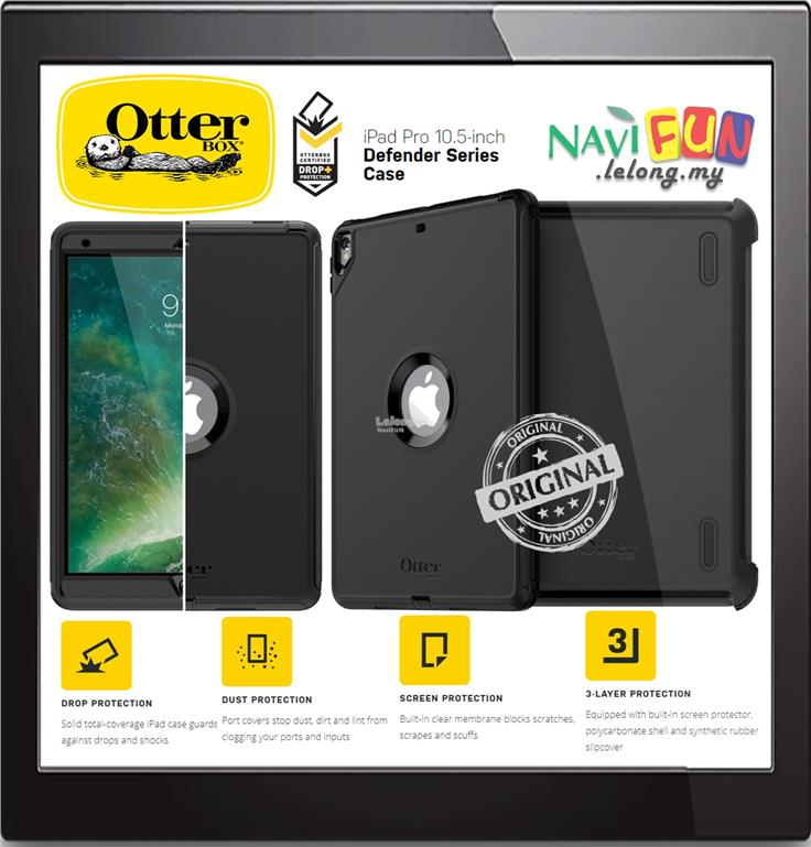 9733 Otterbox Rugged Defender Case Ipad Pro 10 5
