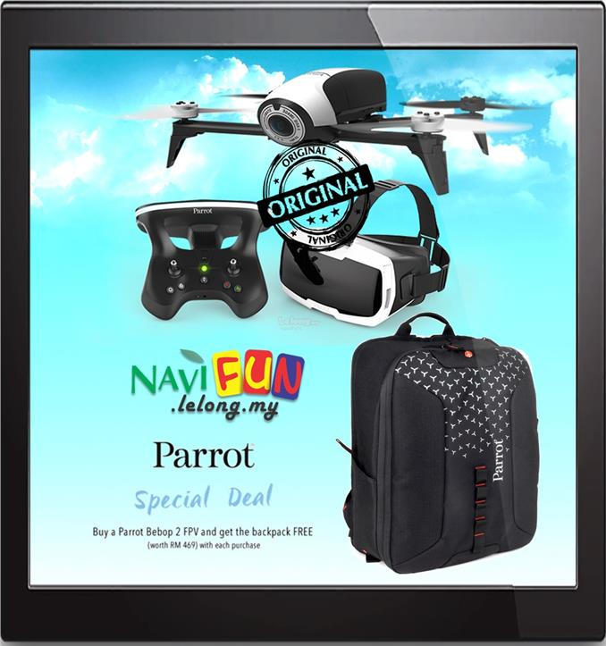 ★ Parrot BEBOP 2 FPV Drones FHD 1.2 Miles GPS 14MP Fish Eye