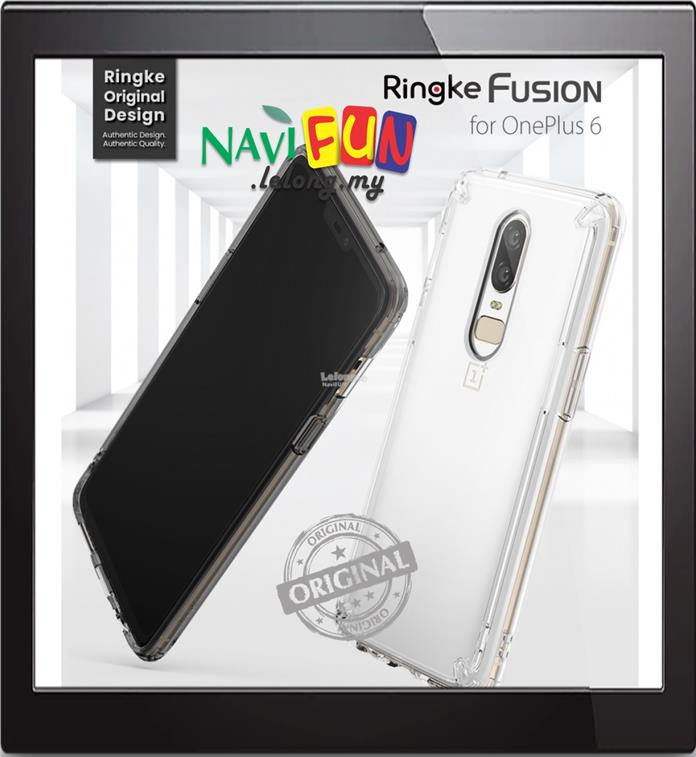 classic fit d72d0 89571 ★ Ringke FUSION (Ori) PC+TPU Clear case for OnePlus 6, 1+6