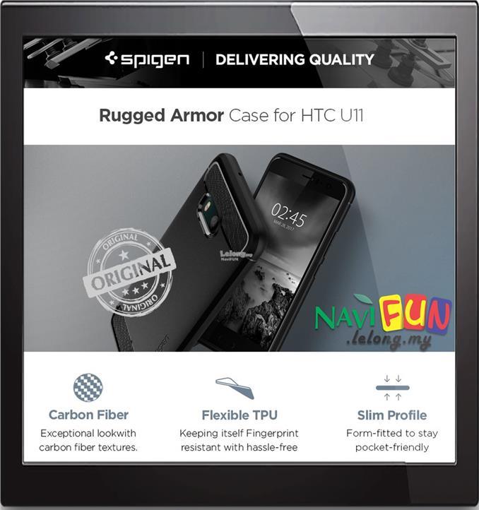 half off 490f4 fb731 ★ Spigen (ORI) Rugged Armor TPU case HTC U11