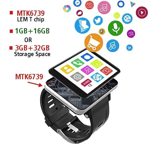 ★ Super Promotion LEMFO LEM T 16GB 4G Smartwatch Phone (WP-LEM16)