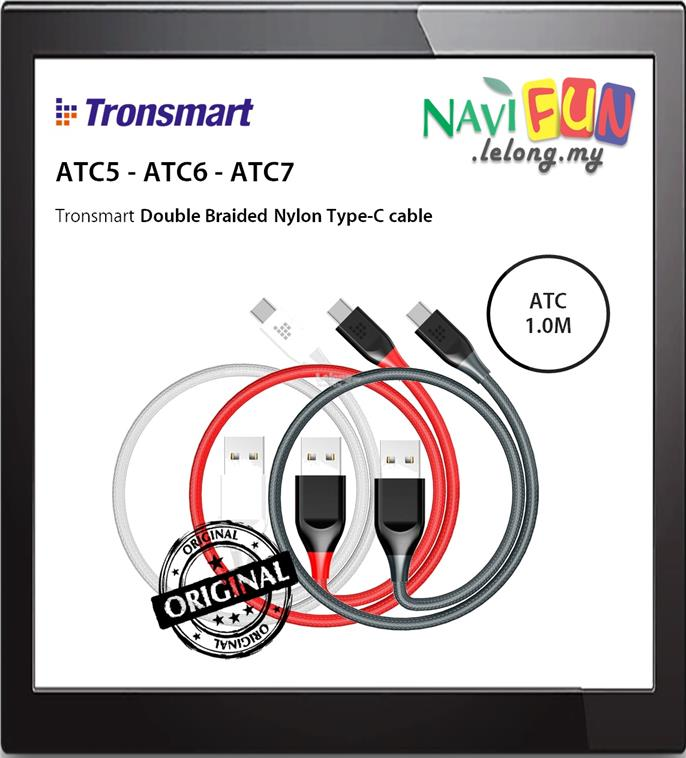 ★ Tronsmart ATC5 / 6 / 7 Braided Nylon USB-C Cable (0.3M /1M)