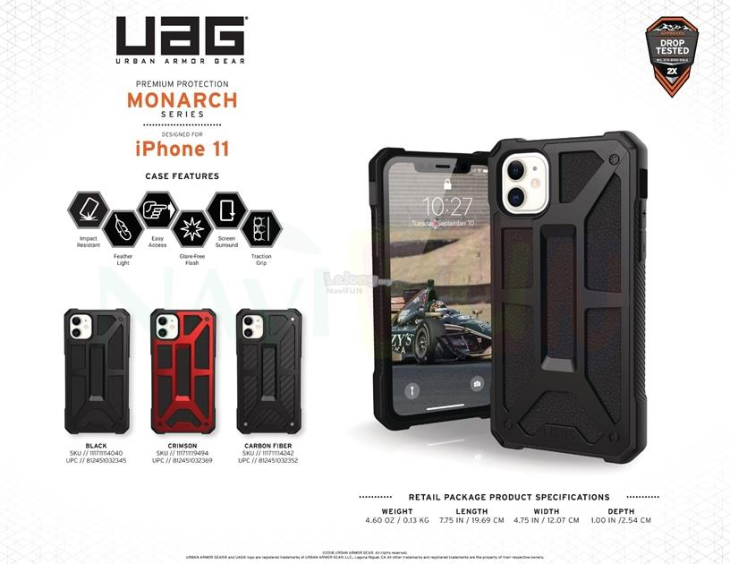★ UAG (ORI) Monarch 2x Protection case Apple iPhone 11 6.1'