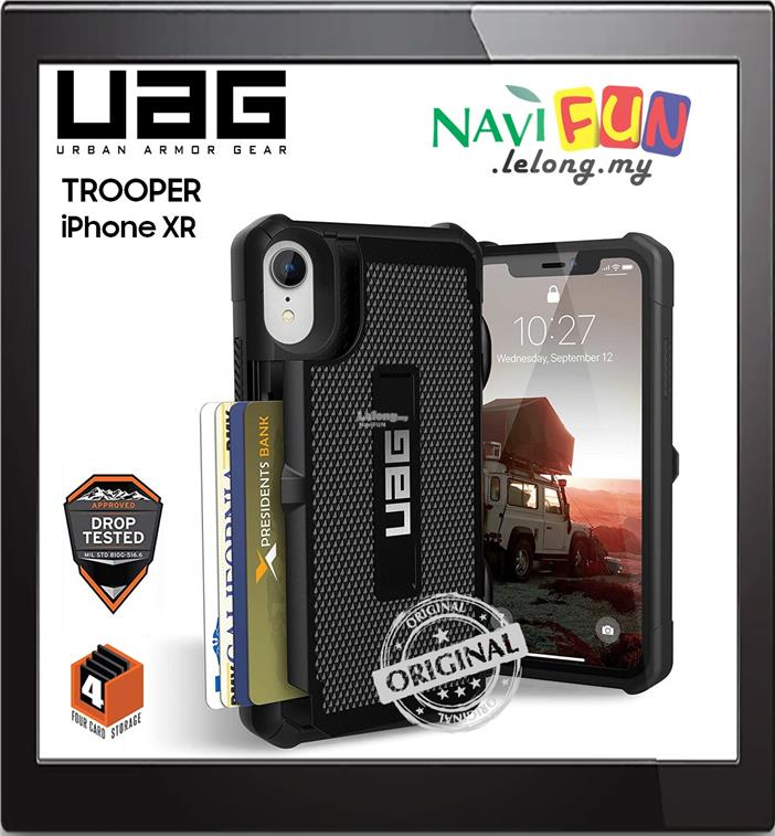 free shipping f5877 47deb ★ UAG (ORI) Trooper Card Wallet Case Apple iPhone XR (6.1