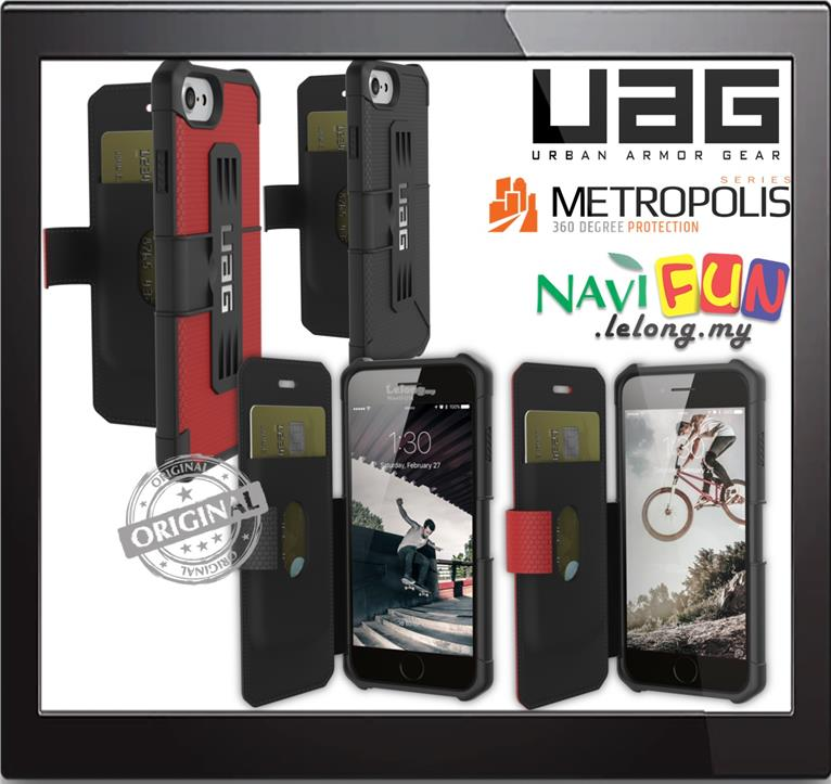 brand new 91702 2fe4a ★ UrbanArmorGear- UAG Metropolis Flip Case for iPhone 8 / 7 / 6S