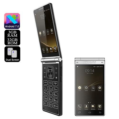 ★ VKWorld T2 Plus Dual Display Flip Smartphone (WP-T2PLUS)