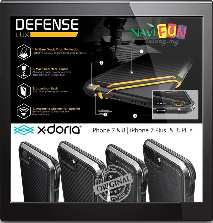 finest selection 6c1e6 a846b ★ X-Doria Defense LUX Ultimate Luxury case iPhone 8 / 7 / Plus